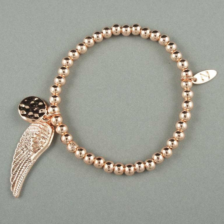 Angel wing rose gold bracelet