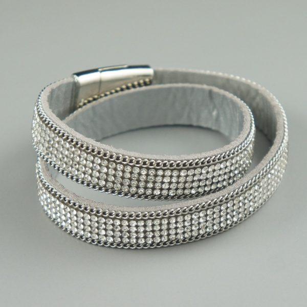 Capri silver crystal bracelet
